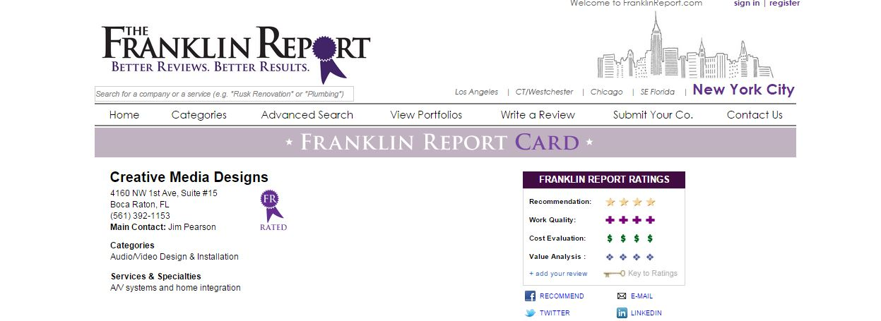 Franklin Rport Card